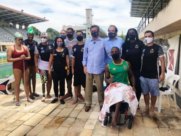 Jorge Salgado e equipe do paralímpico do Vasco