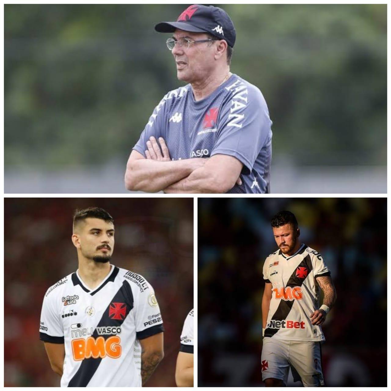 Luxemburgo, Ricardo Graça e Rossi com a camisa do Vasco