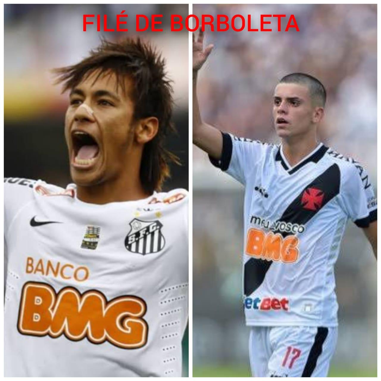 Neymar e Pec, chamados de filé de borboleta por Luxa