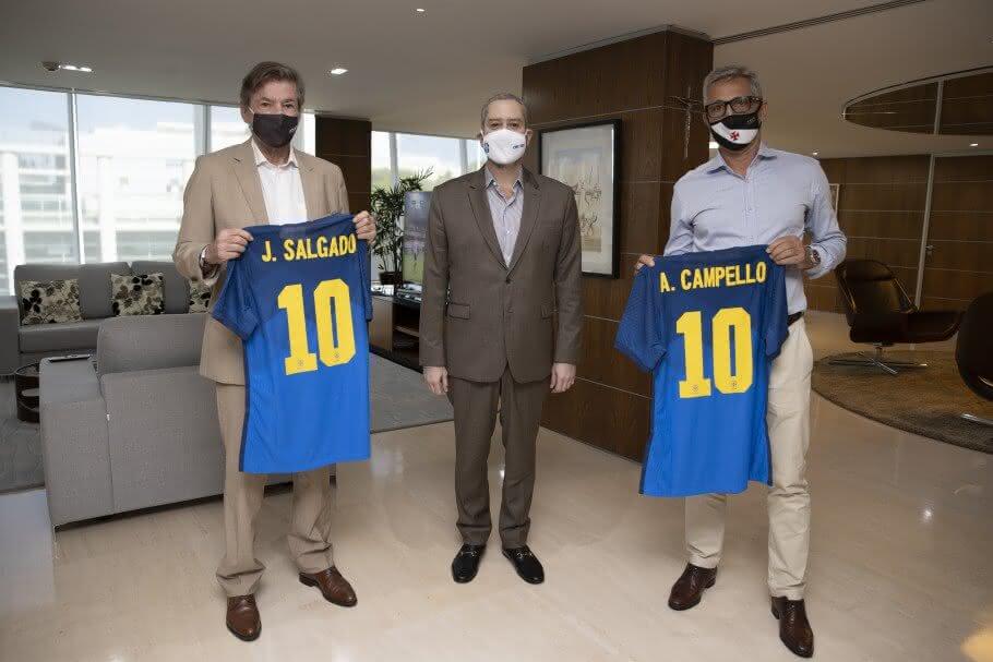 Rogério Caboclo, Jorge Salgado e Alexandre Campello
