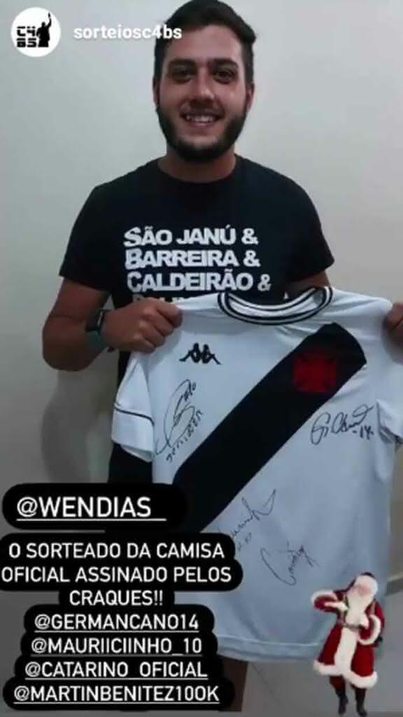 Ganhador do sorteio do Vasco Beach Soccer