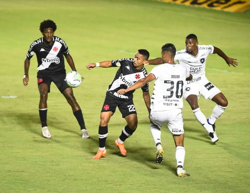 Yago Pikachu durante o jogo contra o Botafogo