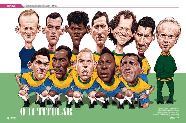 Melhor Seleção Brasileira de todos os tempos eleita pela Revista Placar