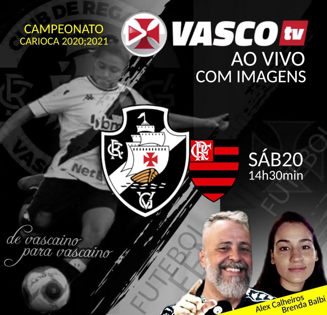 Vasco TV transmite clássico contra o Flamengo neste sábado