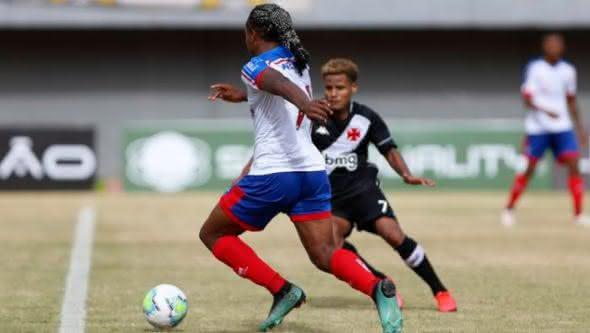 Daniel em ação pelo Bahia contra o Vasco na 1ª partida da final da Copa do Brasil Sub-20 2020