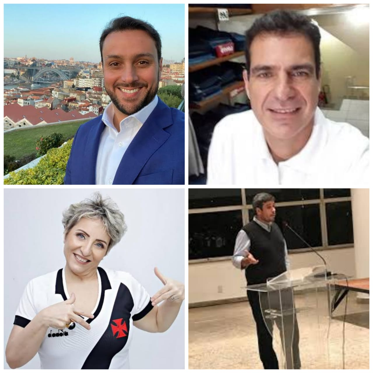 Euriquinho, Sônia Andrade, Luiz Mussa e Julio Brant