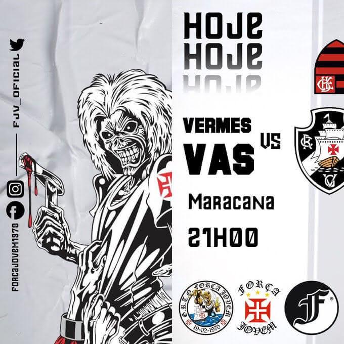Força Jovem destaca confronto Vasco x Flamengo