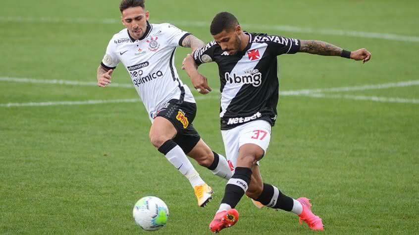 Henrique durante o jogo contra o Corinthians