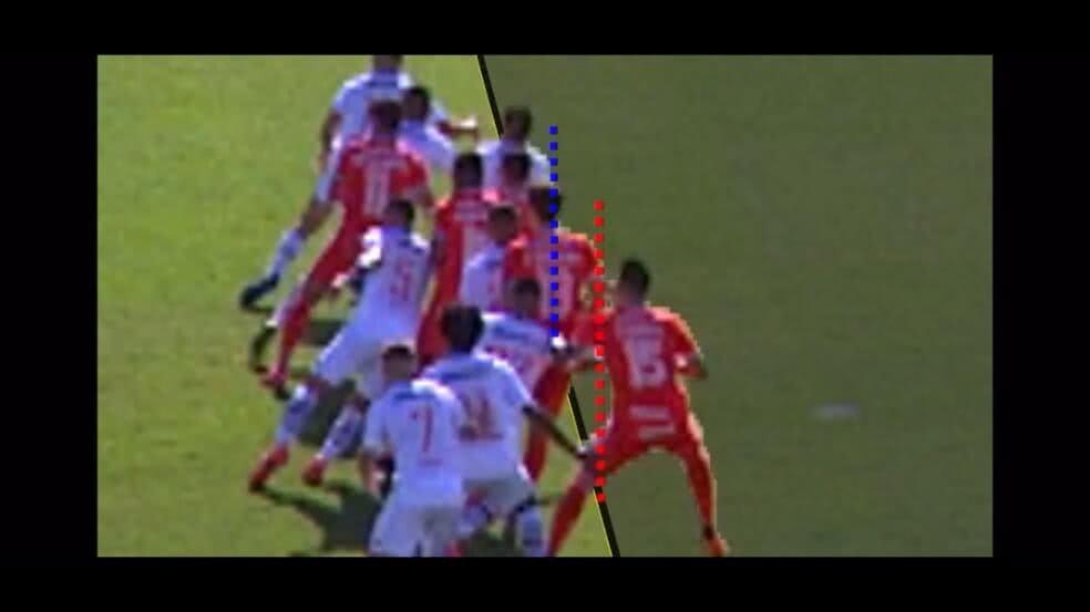 Lance do gol de Rodrigo Dourado contra o Vasco