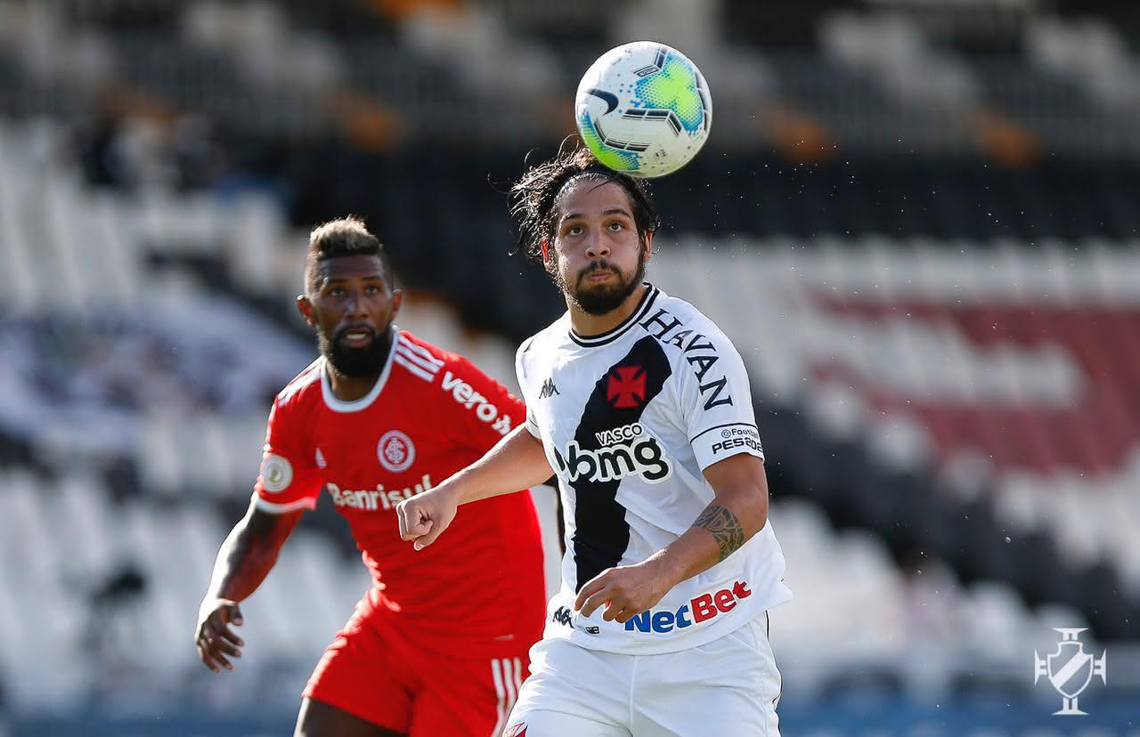 Martín Benítez durante o jogo contra o Internacional