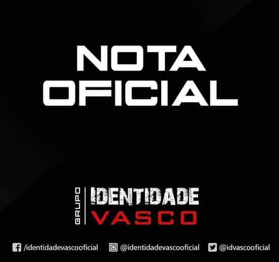 Nota Identidade Vasco (Foto: reprodução/Facebook)
