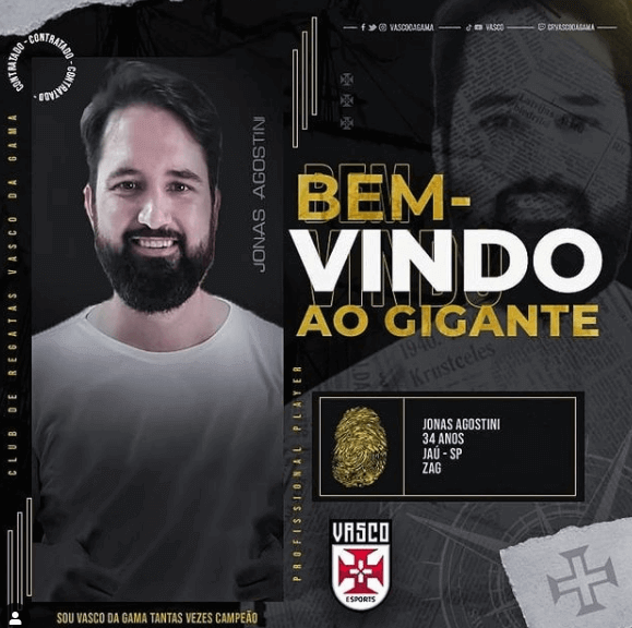 Jonas Agostini, do E-Sports do Vasco