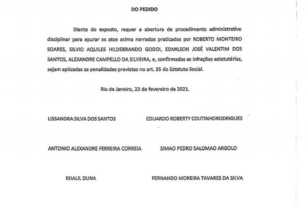 Sócios pedem abertura de inquérito contra ex-presidentes de poderes do Vasco