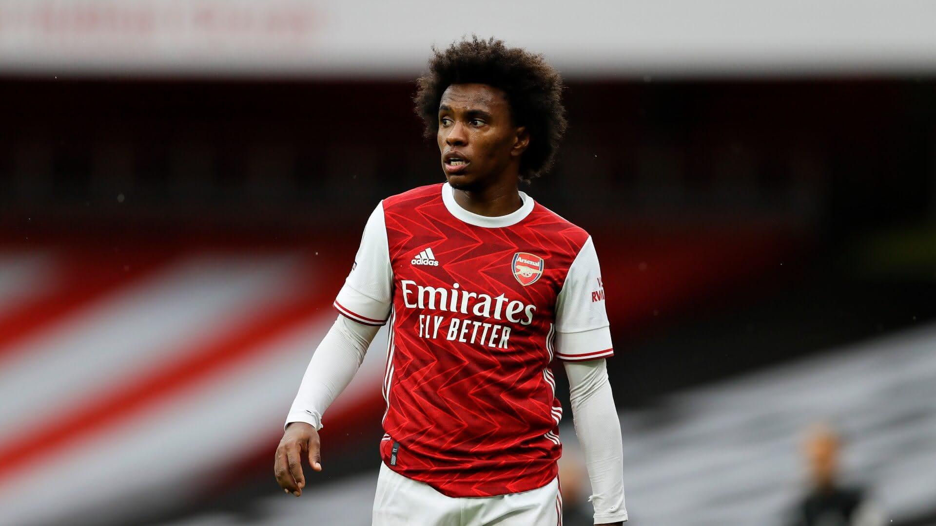 William em ação pelo Arsenal