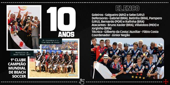 10 anos do Mundial de Beach Soccer do Vasco