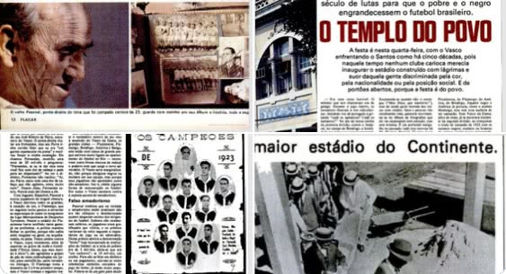 Reportagem sobre os 50 anos de São Januário