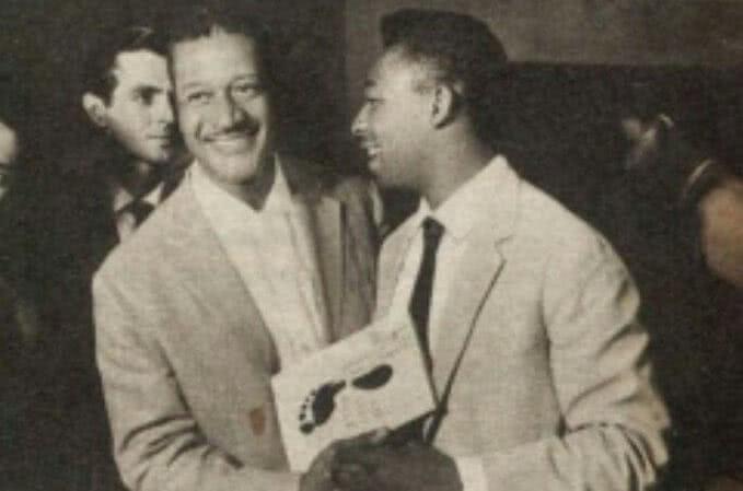 Ex-goleiro Barbosa e o Rei Pelé