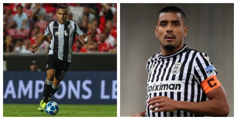 Respectivamente, Léo Jabá e Léo Matos atuando pelo PAOK, da Grécia