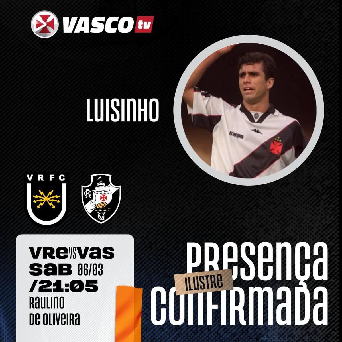 Lisinho participará da transmissão de Vasco x Volta Redonda