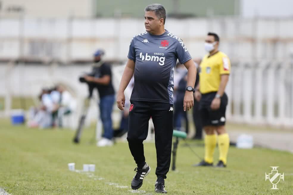 Marcelo Cabo durante o jogo contra a Caldense