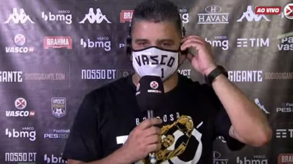 Marcelo Cabo em entrevista após o jogo contra o Madureira