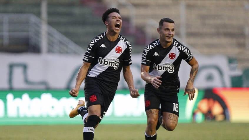 Marquinhos Gabriel comemorando 1º gol pelo Vasco