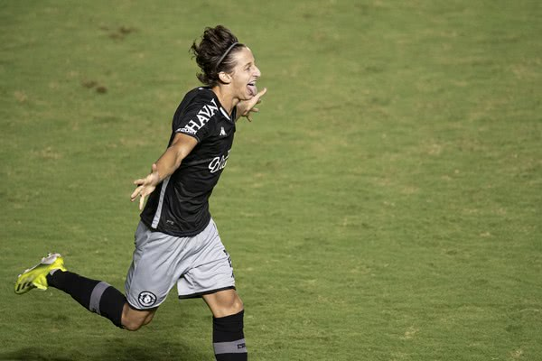 Matías Galarza celebrando gol pelo Vasco contra o Macaé
