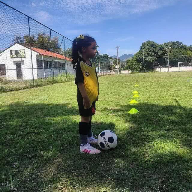 Megan, jogadora mirim do Vasco