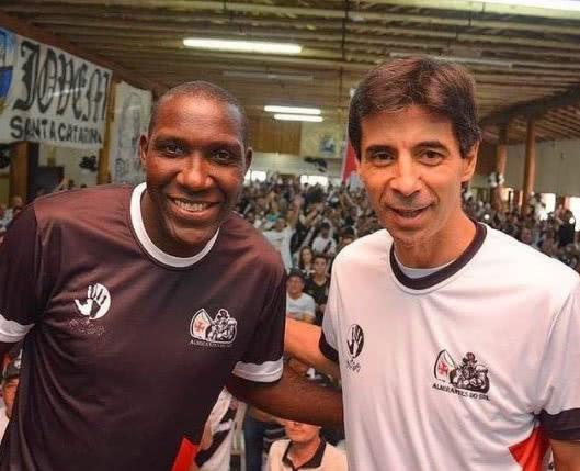 Odvan e Mauro Galvão juntos em evento com vascaínos