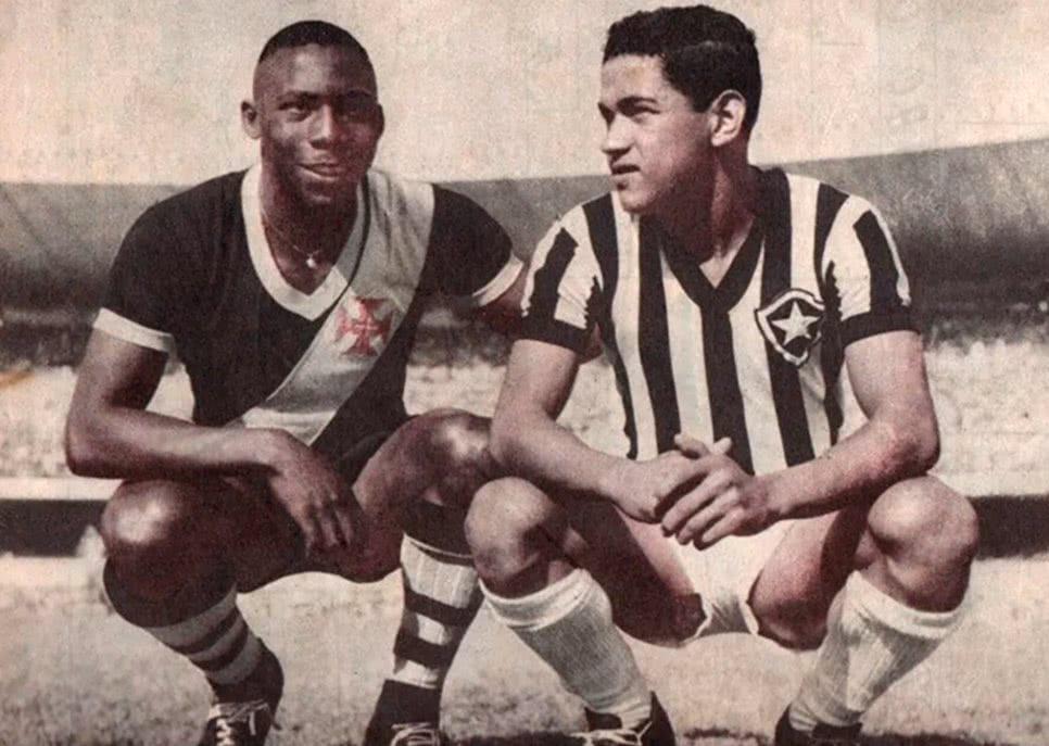 Registro de Sabará e Garrincha, em 1953