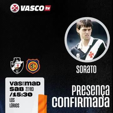 Sorato participará da transmissão de Vasco x Madureira