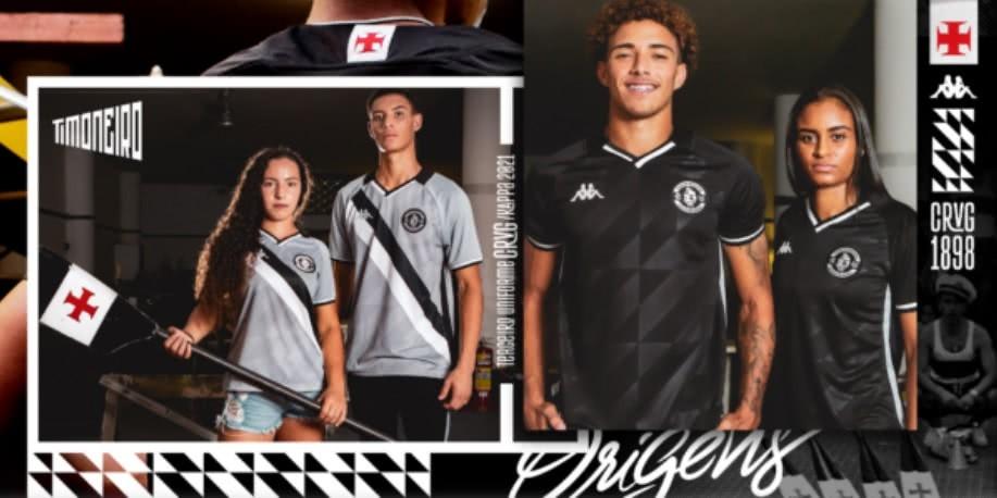 Vasco apresenta terceiro uniforme para 2021