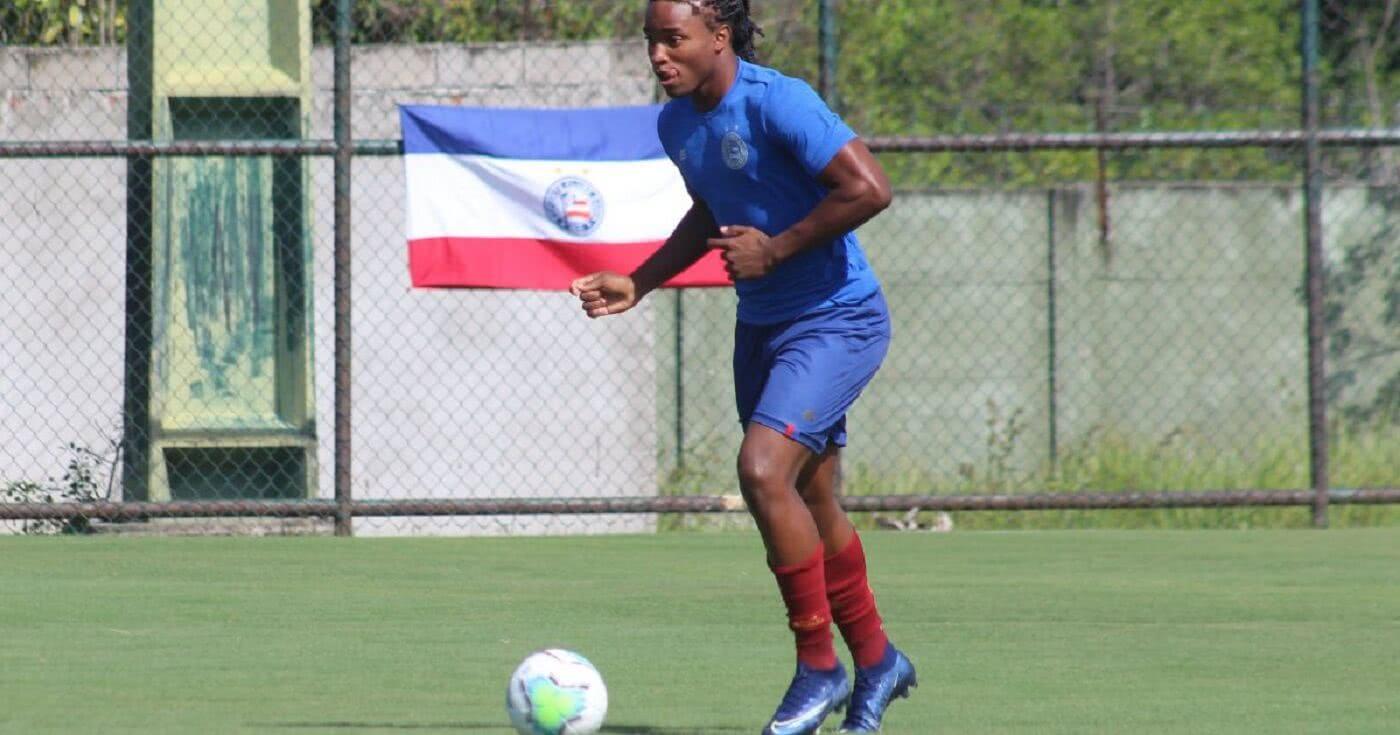 Daniel Cruz em treino do Bahia