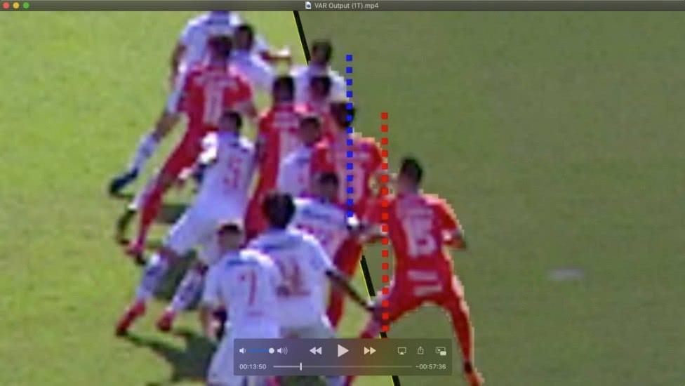 Gol validado contra o Vasco