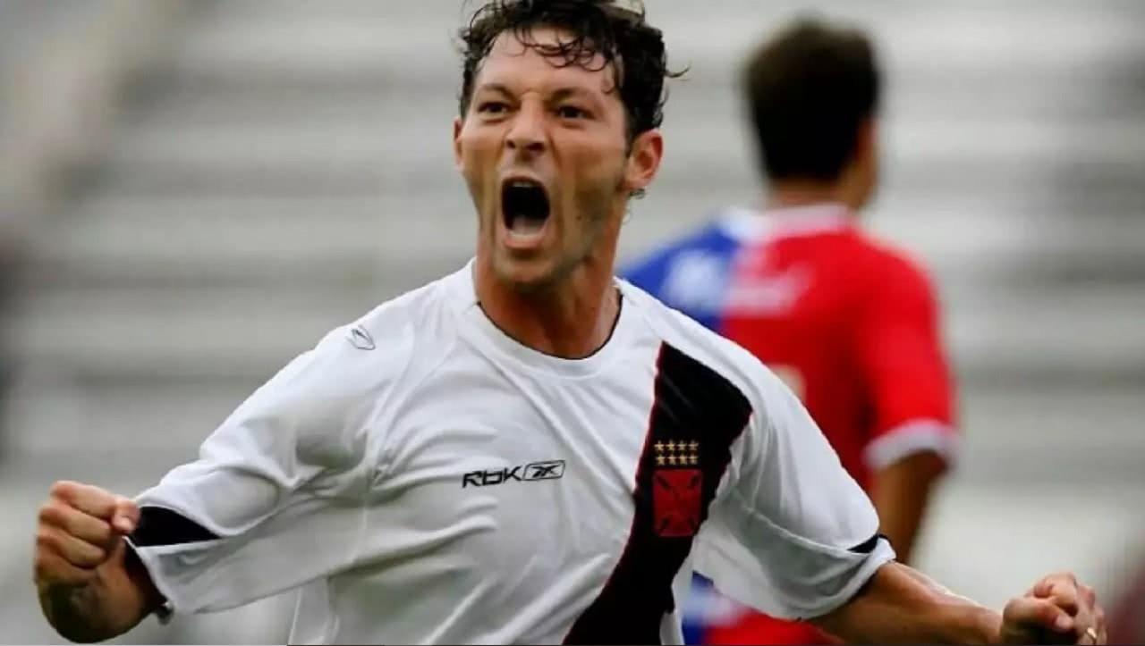 Leandro Amaral em ação pelo Vasco