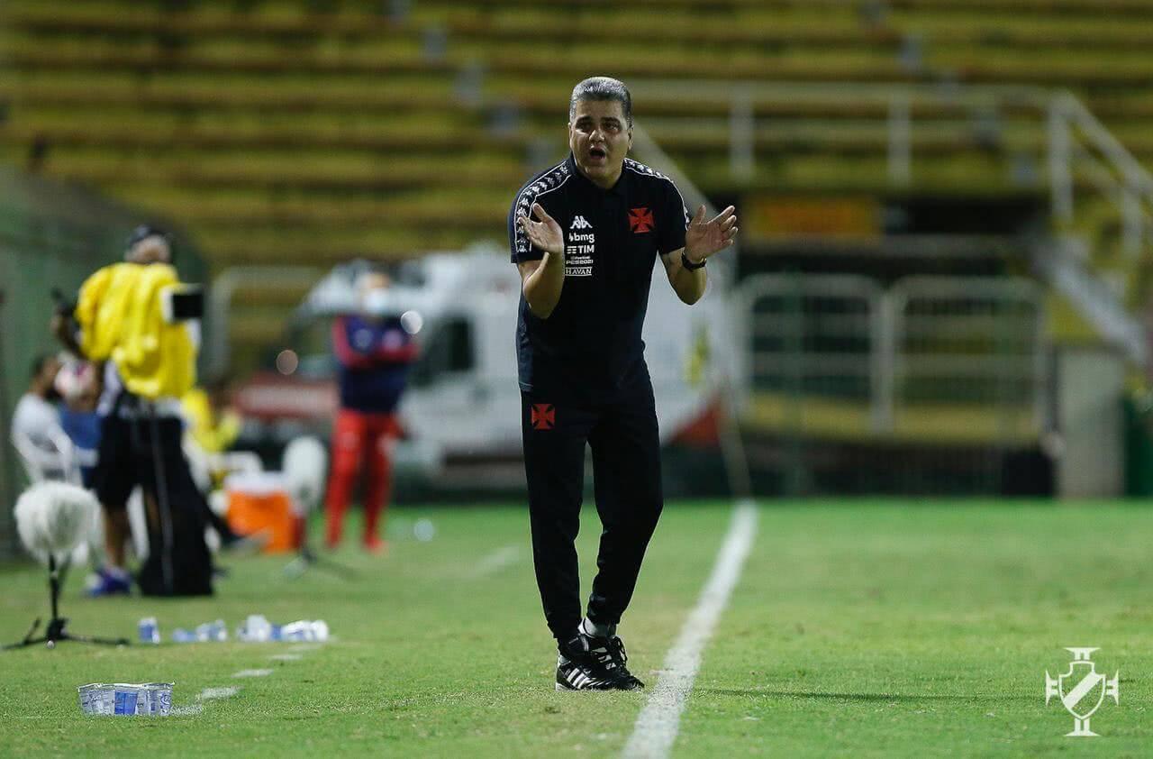 Marcelo Cabo durante o jogo contra o Bangu