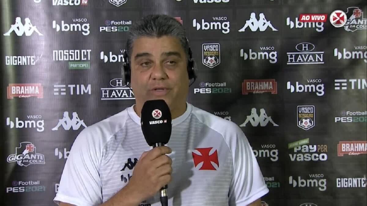 Marcelo Cabo em entrevista após o jogo contra o Tombense