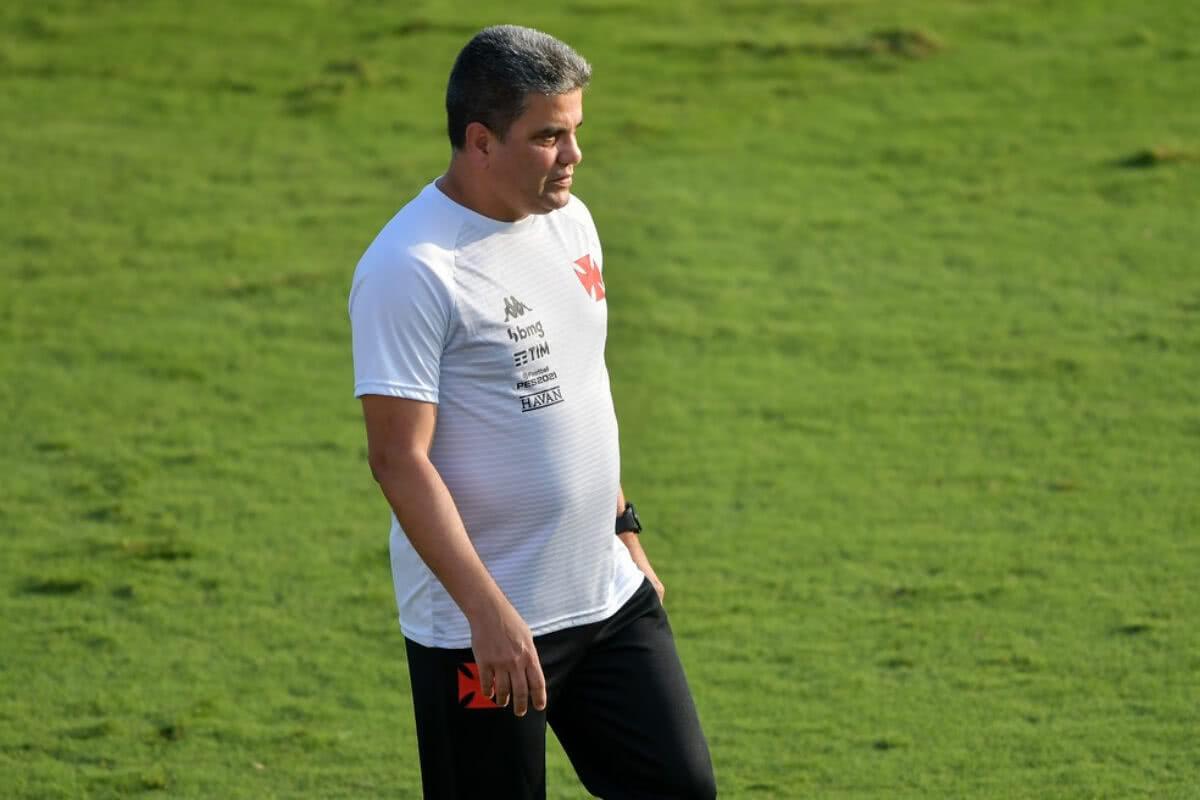 Marcelo Cabo durante o jogo contra o Resende