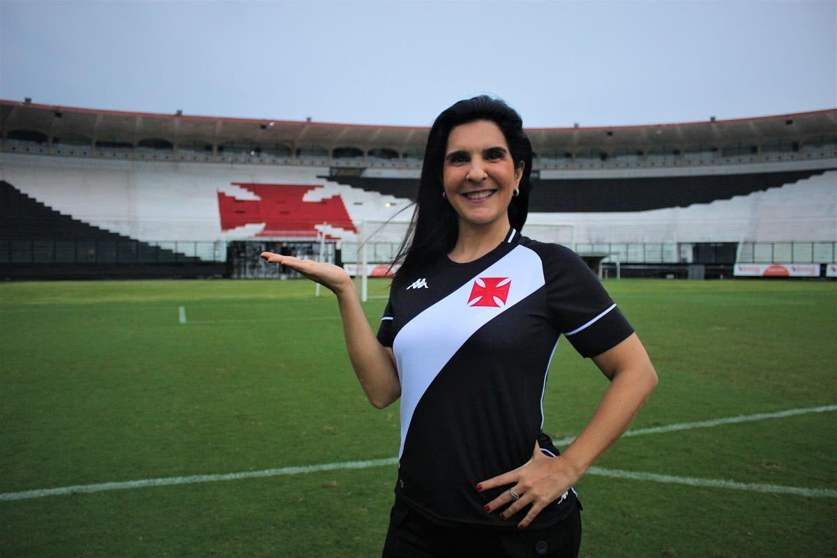 Vanessa Riche, apresentadora da Vasco TV
