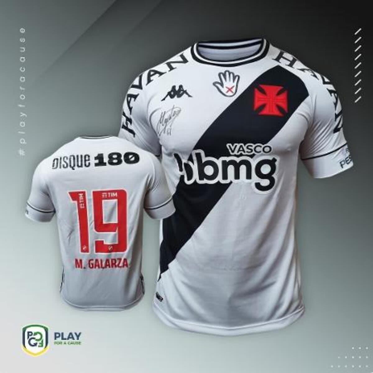 Camisa do Vasco com símbolo da campanha