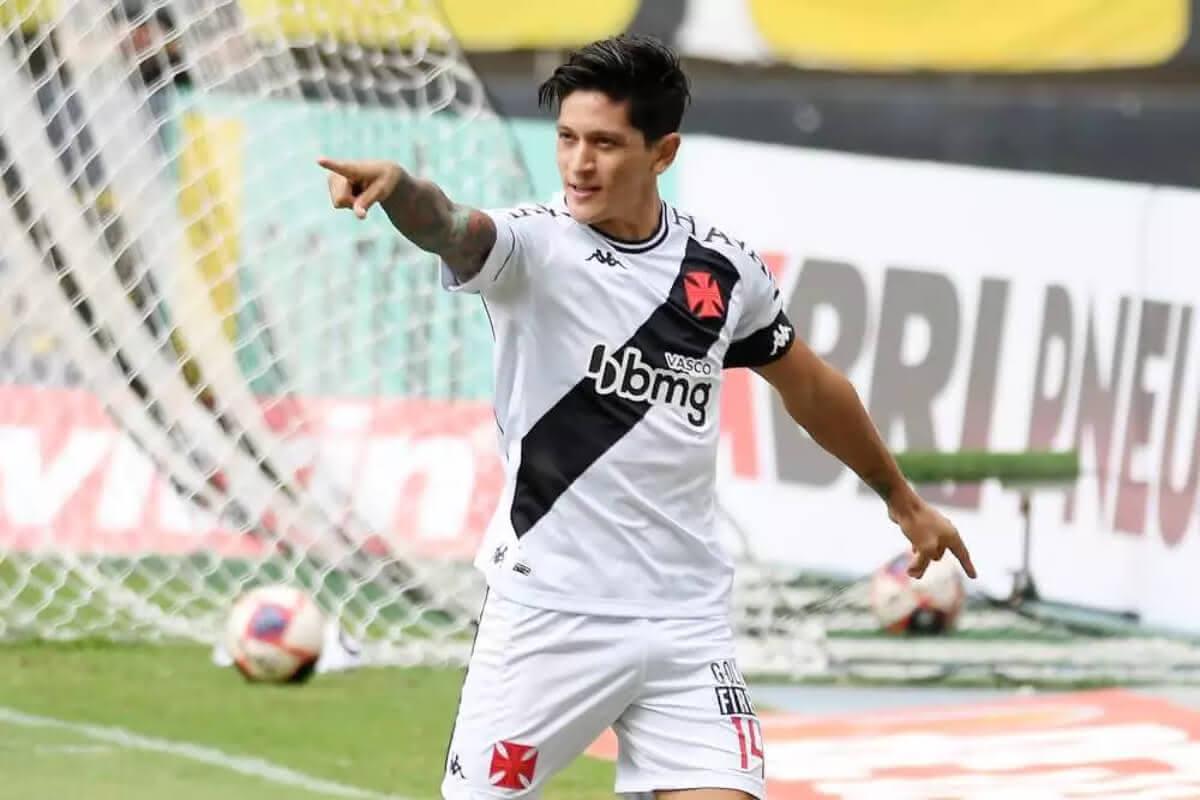 Germán Cano comemora gol contra o Botafogo