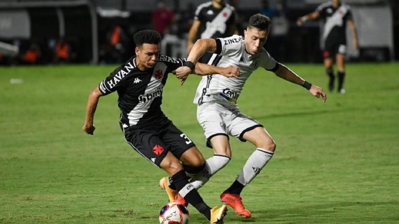 Marquinhos Gabriel em ação pelo Vasco contra o Botafogo