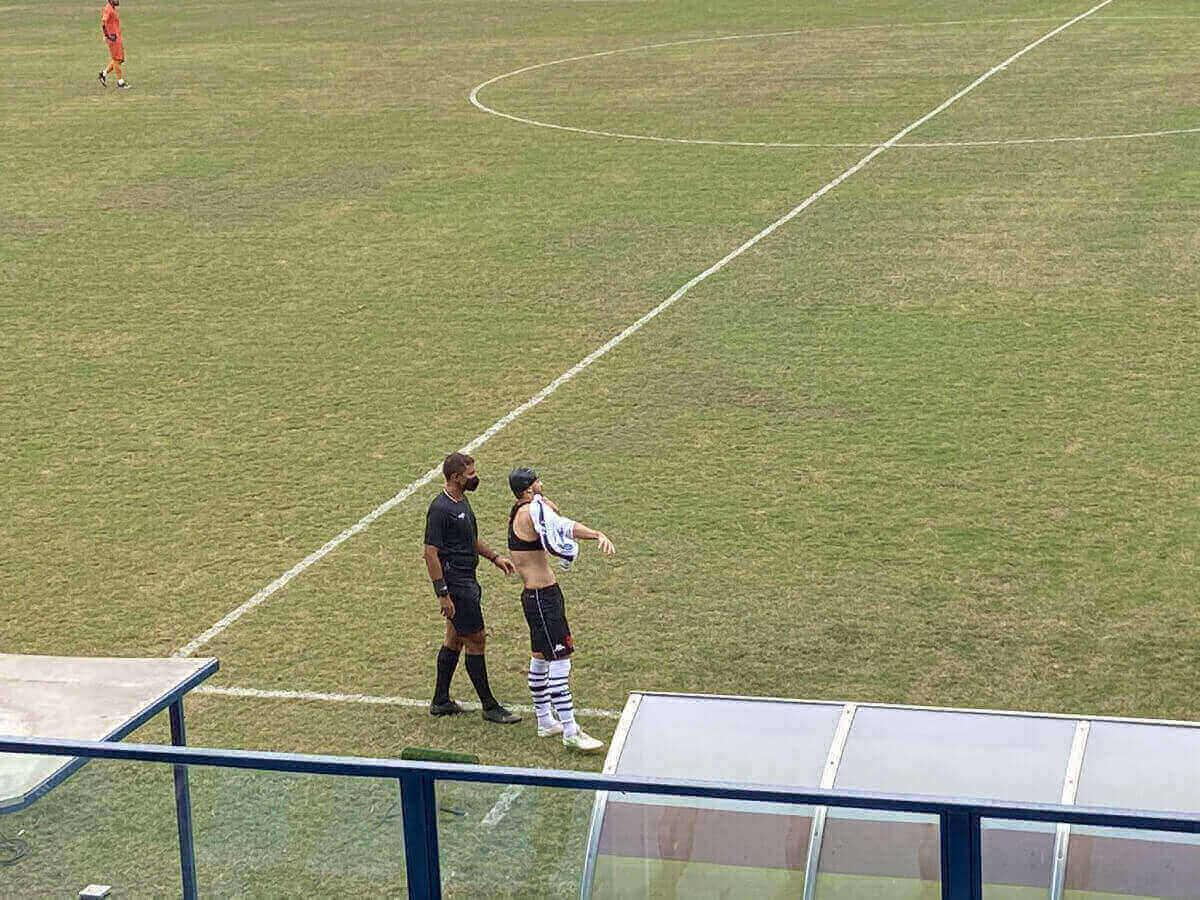 Ricardo Graça se machucou durante o jogo contra o Madureira
