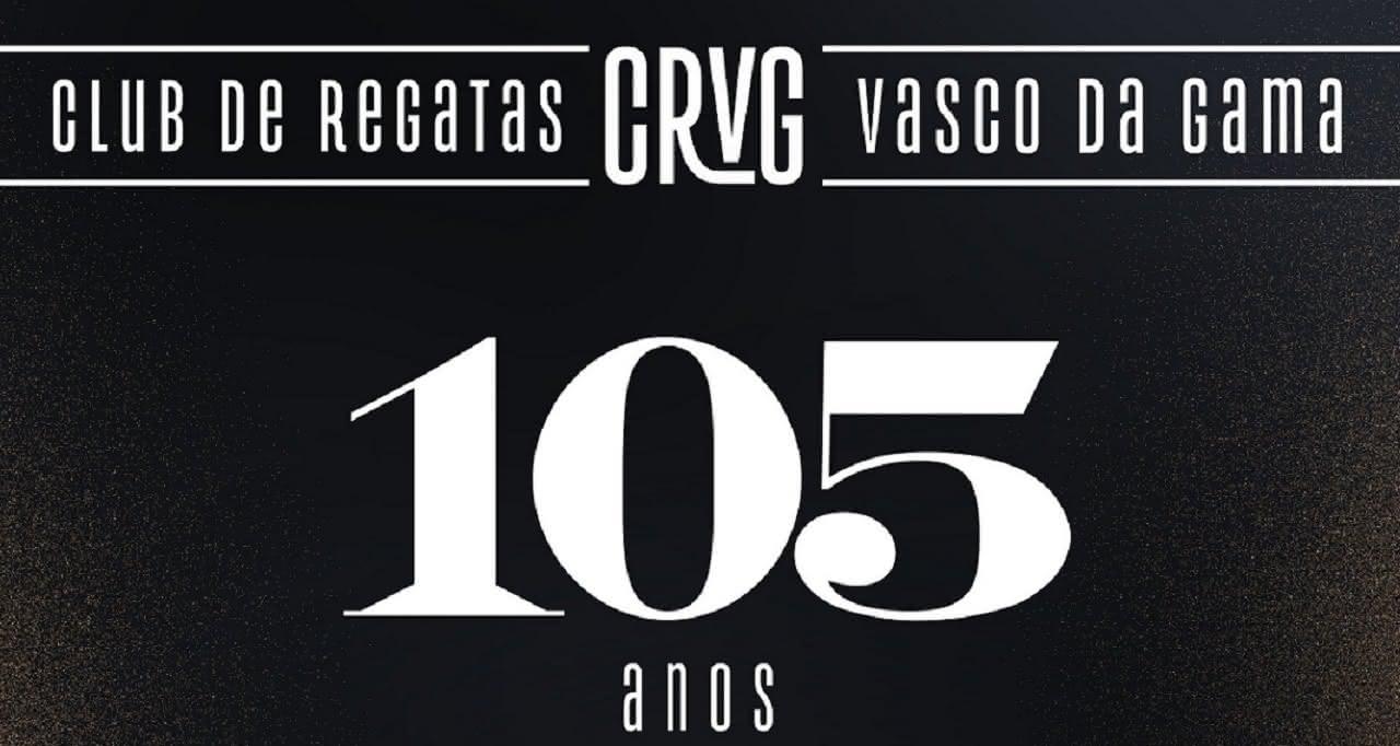 Vasco destaca os 105 anos do começo no futebol