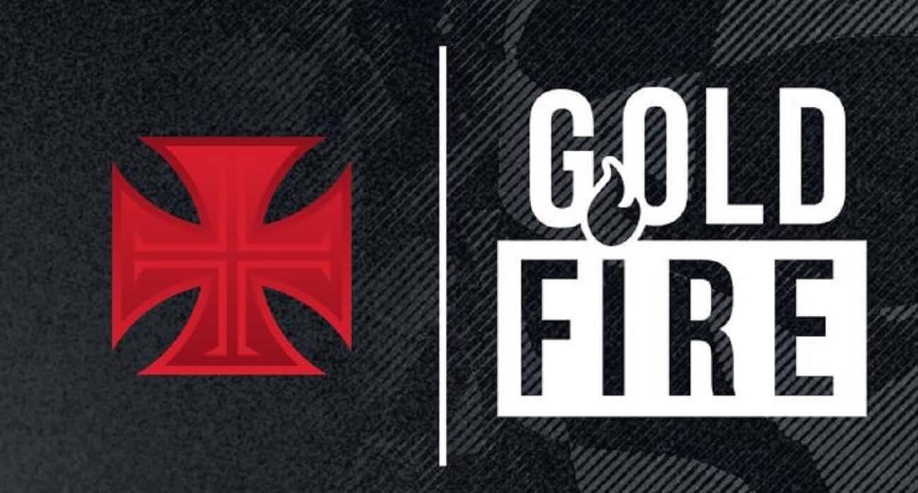 ''Flyer'' de divulgação da parceria entre o Vasco e a Gold Fire