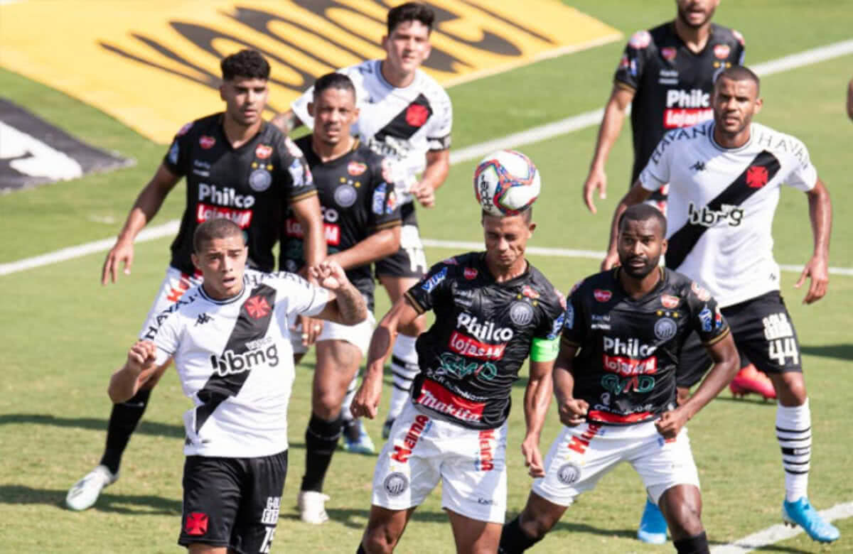 Vasco x Operário no 1º turno da Série B 2021