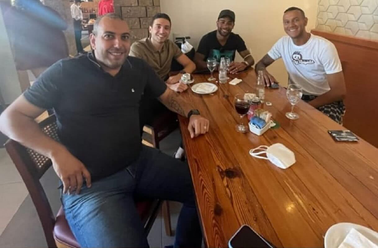 Alex Teixeira, Souza e Pássaro em encontro no Rio de Janeiro
