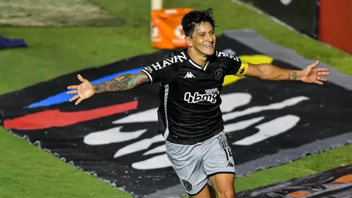 Germán Cano comemora gol contra o Boavista