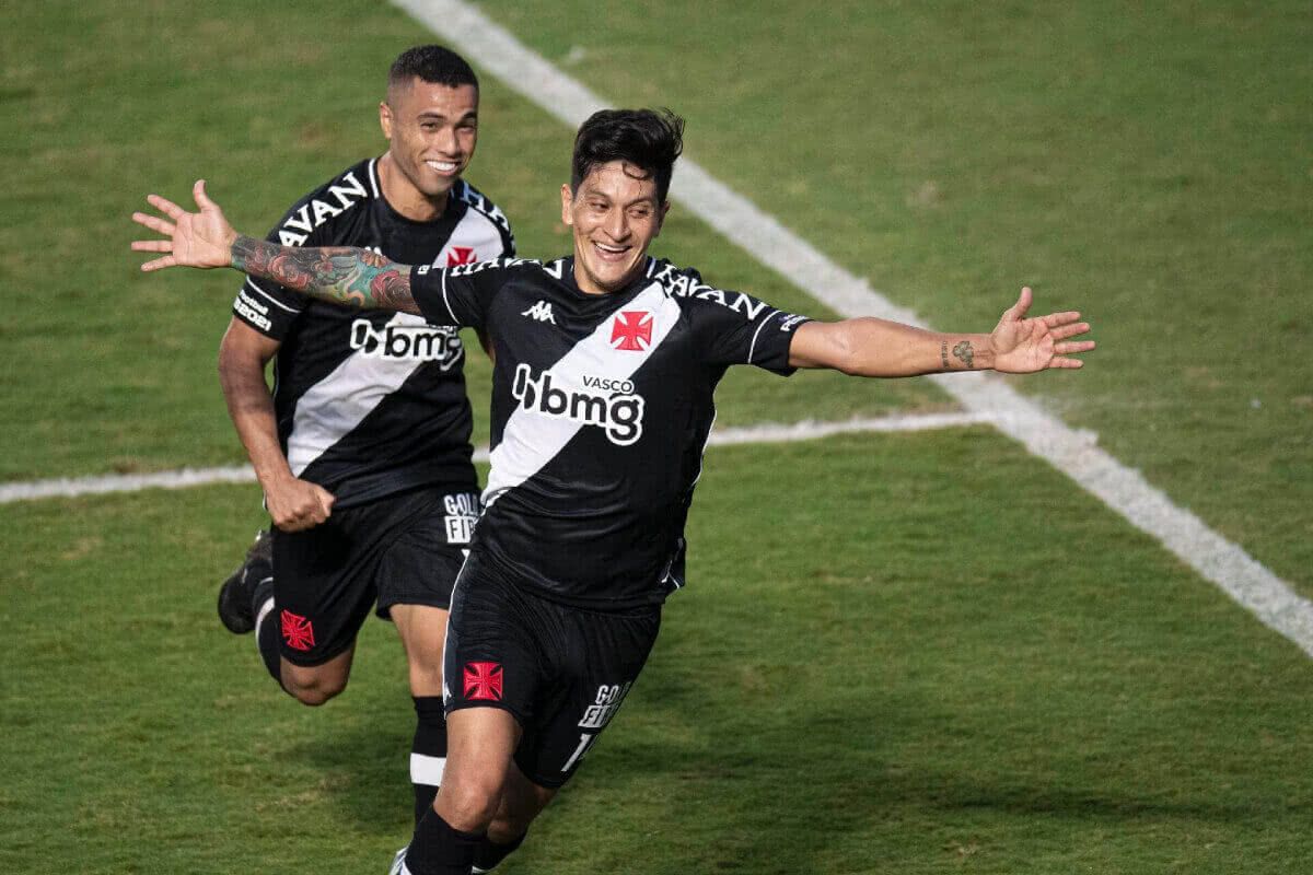 Germán Cano comemora gol contra o CRB