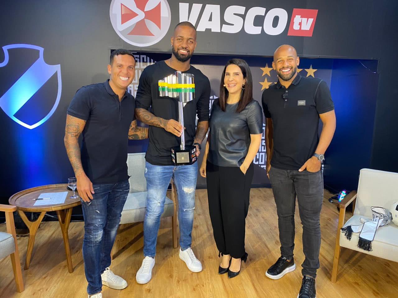 Dedé com Ramon e Fellipe Bastos na Vasco TV